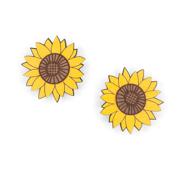 Big Sunflower Stud Earrings