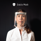 Gracia mask is a facial protection screen to prevent covid spread PPE