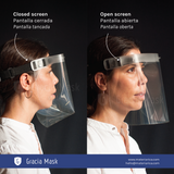 Facial screen as protection against covid