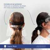 ear protection as a strap part of gracia mask
