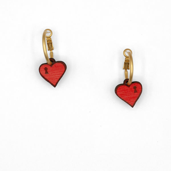 Chained Love Hoop Earrings