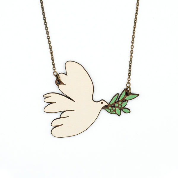 White Dove Necklace
