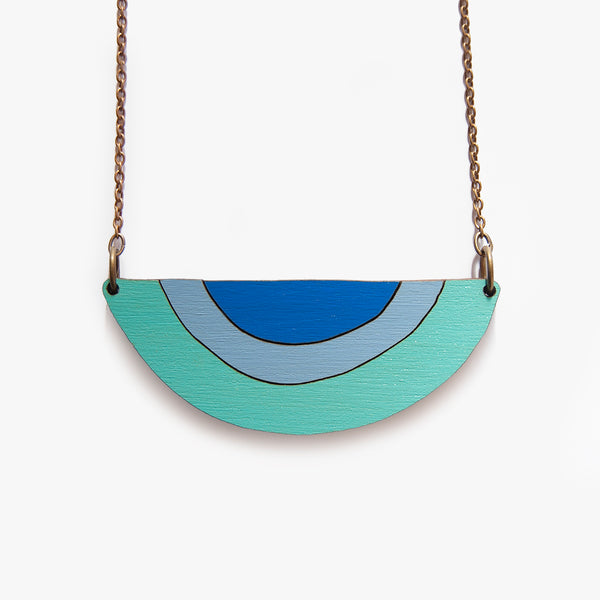 The Snake Charmer Teal Necklace