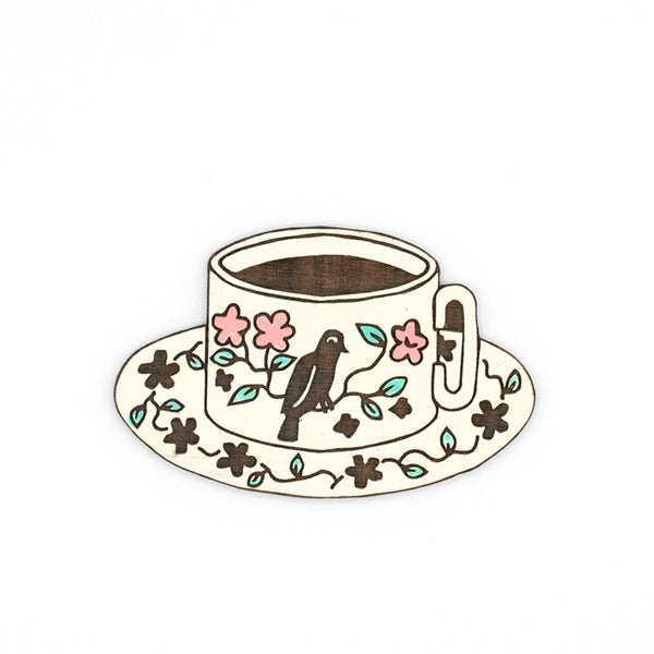 Black Tea Brooch