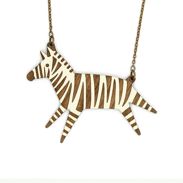 Zebra Necklace