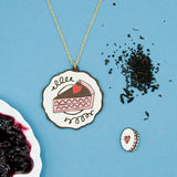 Strawberry Cake Necklace