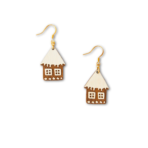 Gingerbread House Hook Earrings