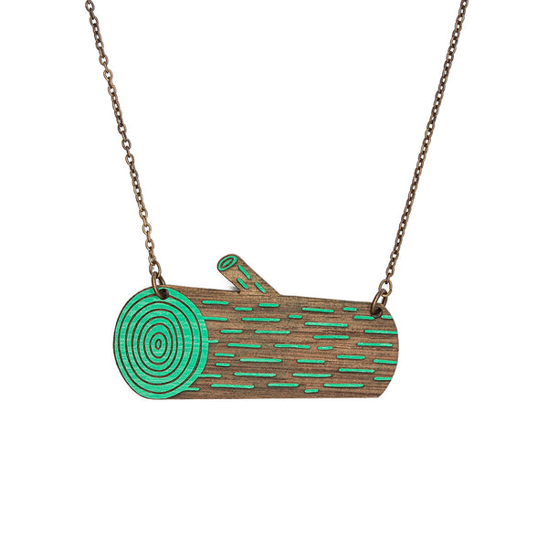 Wood Log Necklace | SALE!