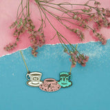 Three Tea Sets Necklace