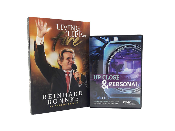 Living A Life of Fire Book and Up Close and Personal DVD - Christ For All Nations Store - Christian Products