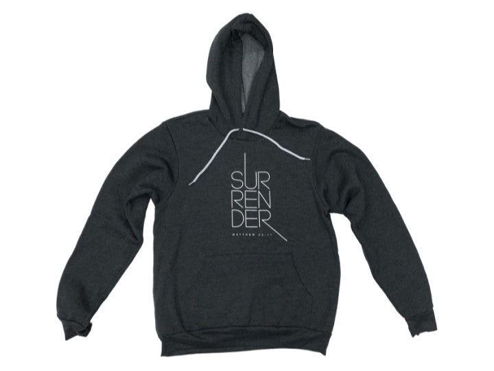 Surrender (Hoodie, Dark Grey) - Christ For All Nations Store - Christian Products