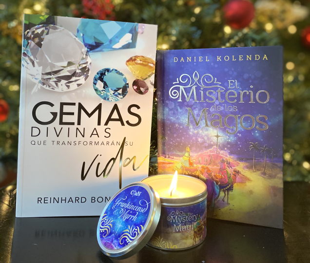 El Misterio de los Magos, Gemas Divinas & Candle Set - Christ For All Nations Store - Christian Products