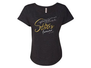 Stars Forever Ladies' T-shirt - Christ For All Nations Store - Christian Products