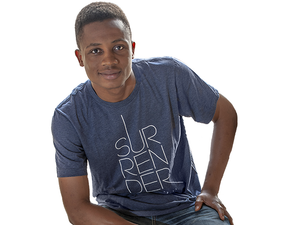 Surrender (T-shirt, Navy) - Christ For All Nations Store - Christian Products
