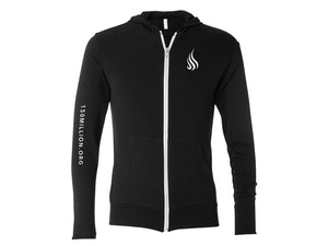 Flame Lightweight Hoodie (Black) - Christ For All Nations Store - Christian Products