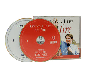 Living a Life of Fire Audiobook (2 CD) - Christ For All Nations Store - Christian Products