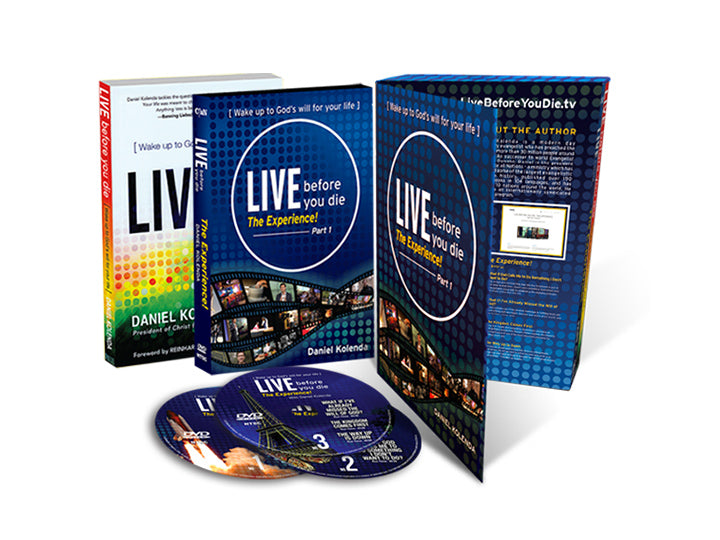 Live Before You Die - The Experience (Soft Cover Book & 3 DVD's) - Christ For All Nations Store - Christian Products