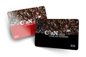 Christ for all Nations Gift Card - Christ For All Nations Store - Christian Products