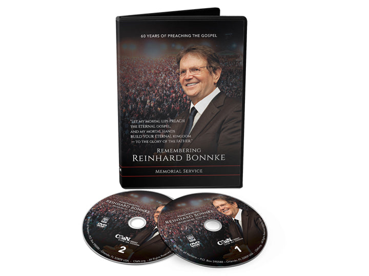 Remembering Reinhard Bonnke Memorial Service DVD - Christ For All Nations Store - Christian Products