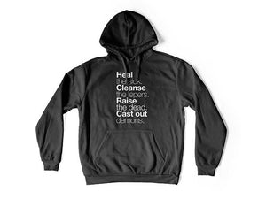 Matthew 10:8 (Hoodie) - Christ For All Nations Store - Christian Products