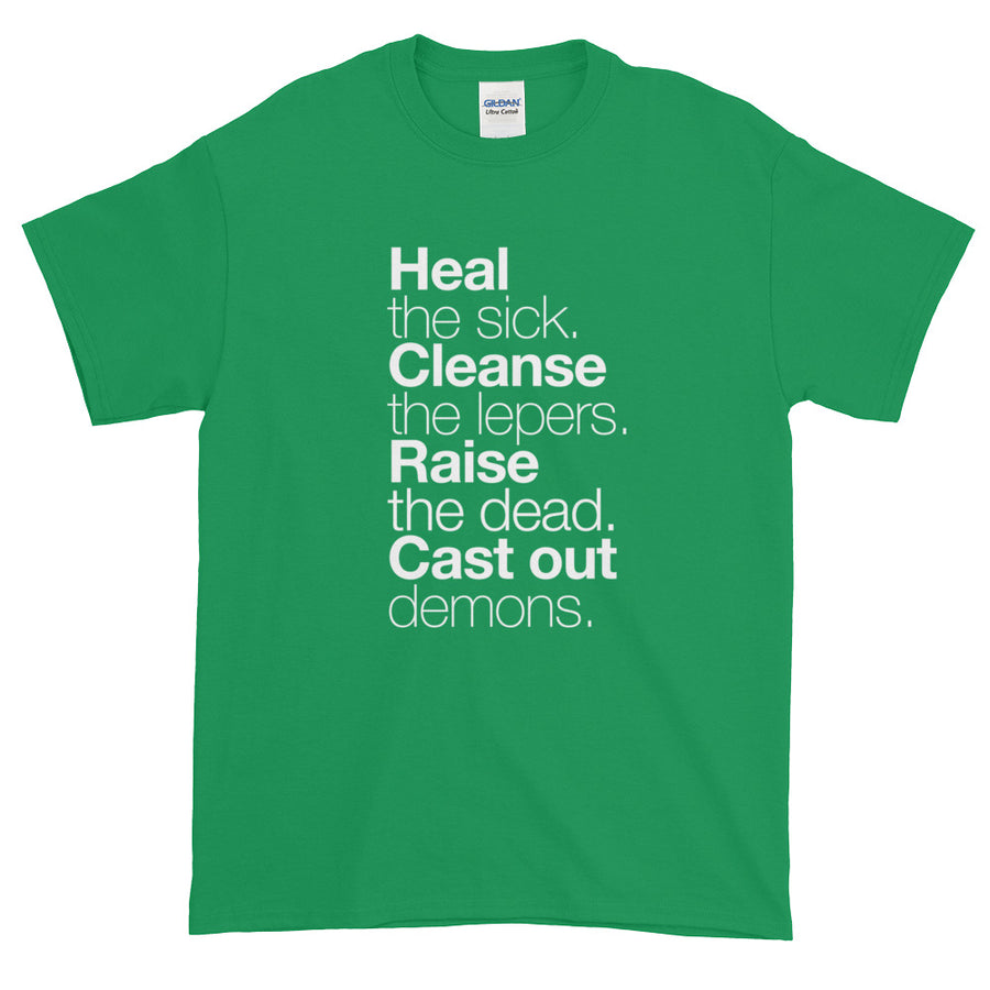 Matthew 10:8 (T-Shirt, Green)