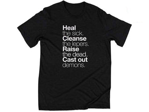 Matthew 10:8 (T-shirt, Black) - Christ For All Nations Store - Christian Products