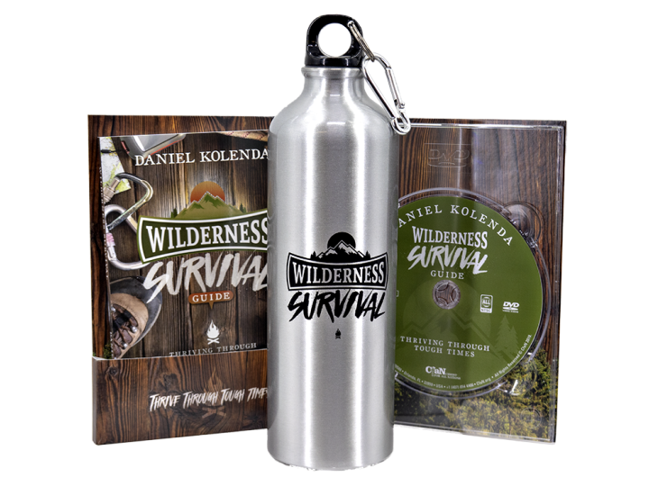 Wilderness Survival Guide Bundle (Book + DVD + Water Bottle) - Christ For All Nations Store - Christian Products