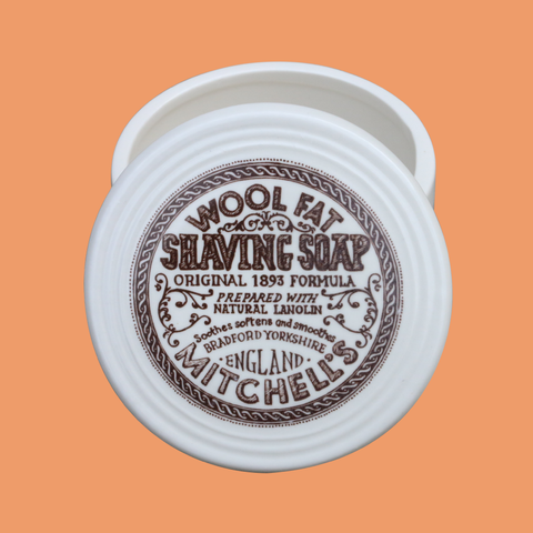 Mitchells Shaving Soap with Ceramic Dish