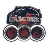 Dragons Spinning Pin Badge