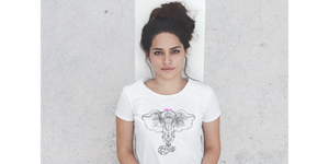 T-Shirt Design mit Elephant Print