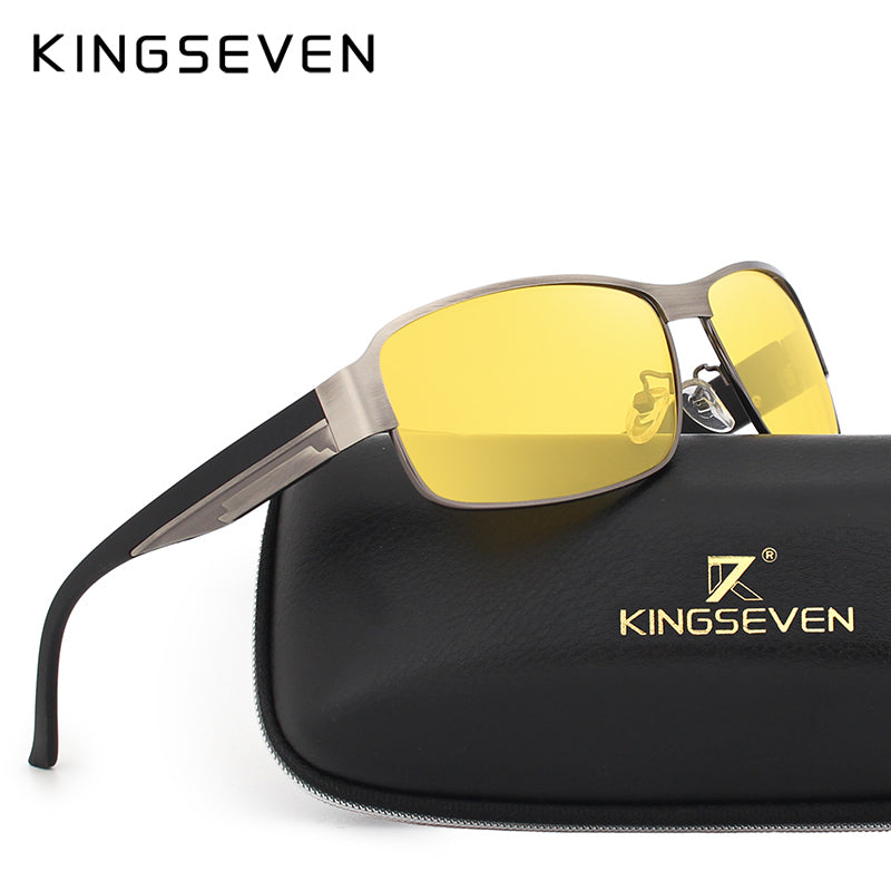 f180e52ac01 KINGSEVEN Yellow Polarized Sunglasses Men Women Night Vision Goggles  Driving Glasses Driver Aviation Polaroid Sun Glasses