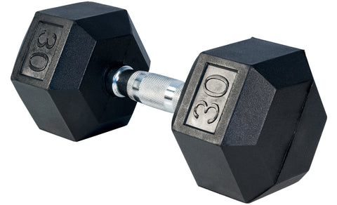 RubberHex Dumbbells 30lb Pair