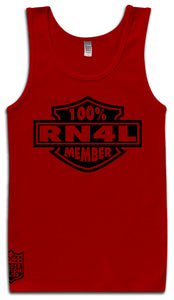 100% RN4L MEMBER RED TANK TOP (LIMITED EDITION) RAIDER NATION EDITION