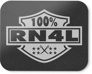 100% RN4L MOUSEPAD (NEW) SILVER & BLACK RAIDER NATION EDITION
