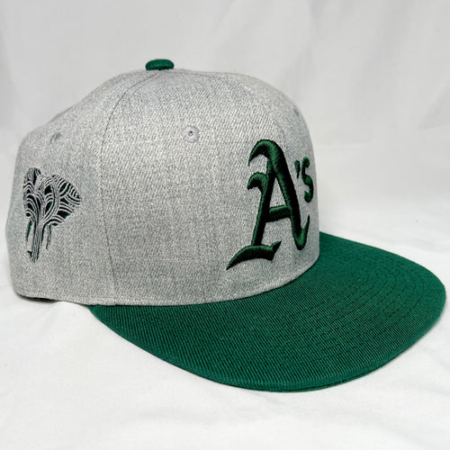 Copy of OAKLAND A'S GREEN & GOLD SNAPBACK BASEBALL HAT (New) ELEPHANT EDITION