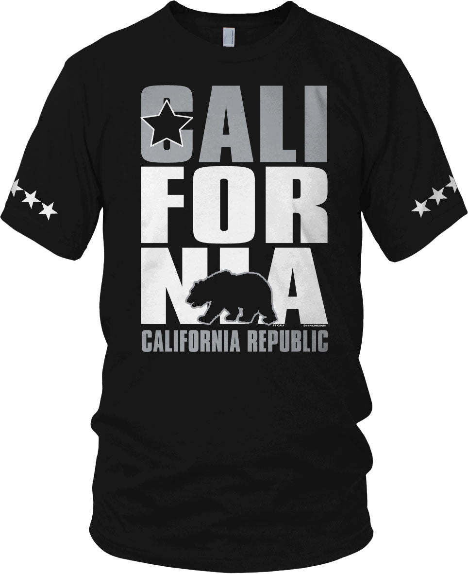 CALIFORNIA BEAR BLACK T-SHIRT (LIMITED EDITION) 5 STAR