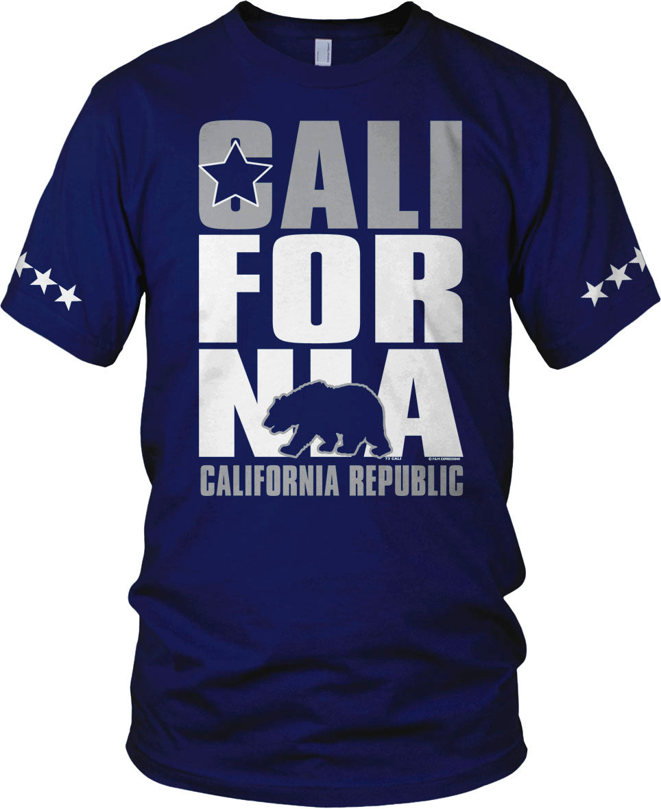 CALIFORNIA BEAR BLUE T-SHIRT (LIMITED EDITION) 5 STAR