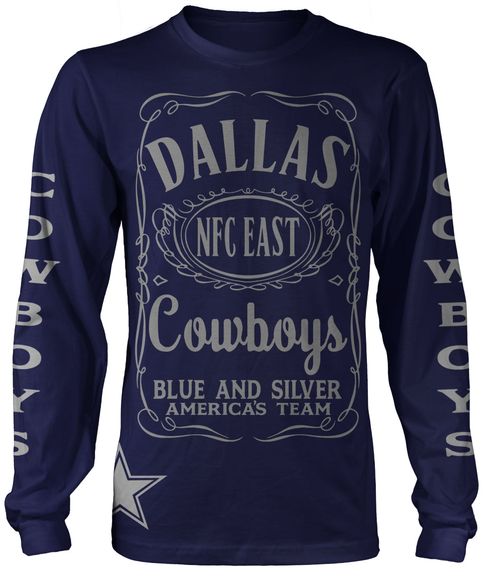 DALLAS LONG SLEEVE NAVY BLUE T-SHIRT (LIMITED EDITION)