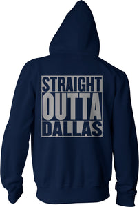 STRAIGHT OUTTA DALLAS NAVY ZIP-UP HOODIE (LIMITED EDITION) COWBOYS