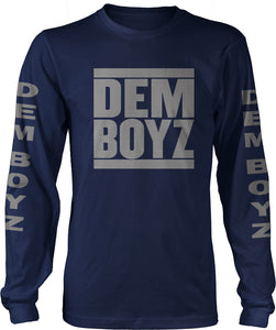 DEM BOYZ LONG SLEEVE NAVY BLUE T-SHIRT (LIMITED EDITION) DALLAS COWBOYS