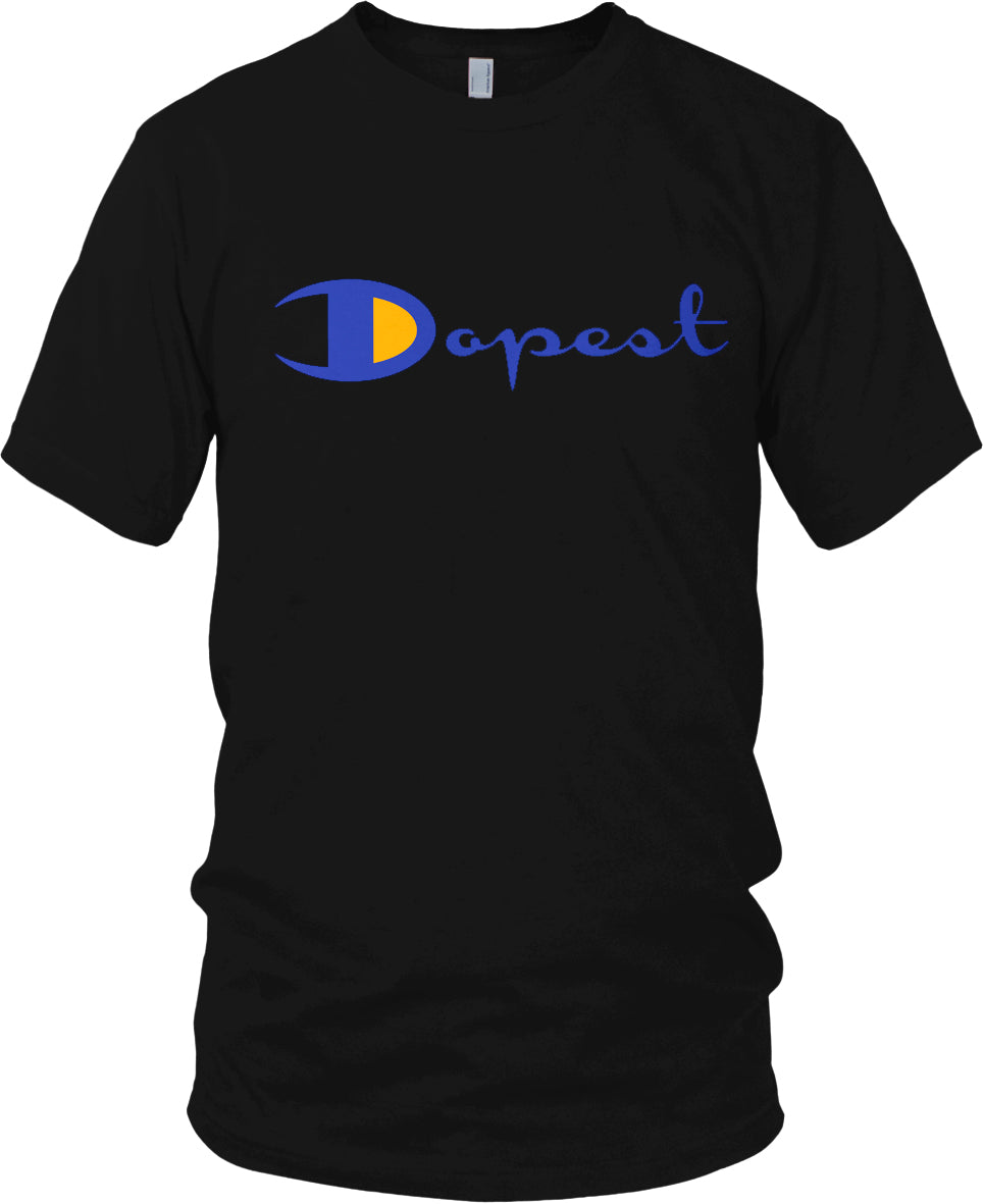 DOPEST BLACK, BLUE & GOLD T-SHIRT (LIMITED EDITION)