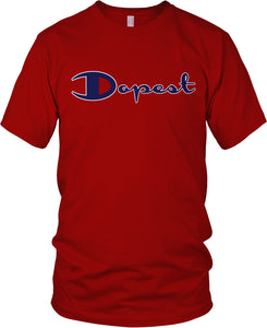 DOPEST RED, BLUE, BLACK & WHITE T-SHIRT (LIMITED EDITION)
