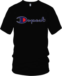 DOPEST BLACK, BLUE, RED & WHITE T-SHIRT (LIMITED EDITION)