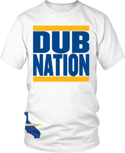 DUB NATION BLACK T-SHIRT (LIMITED EDITION) GOLDEN STATE WARRIORS EDITION