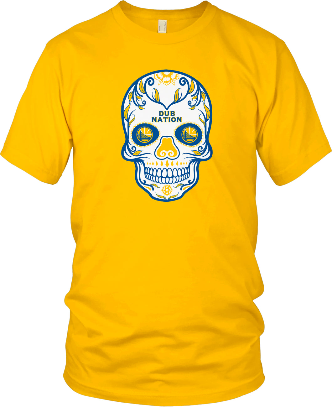 DUB NATION CANDY SKULL GOLD T-SHIRT (LIMITED EDITION) GOLDEN STATE WARRIORS EDITION