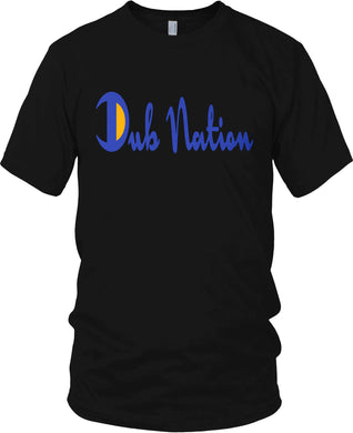 DUB NATION CHAMPION BLACK, BLUE & GOLD T-SHIRT (LIMITED EDITION) GOLDEN STATE WARRIORS EDITION