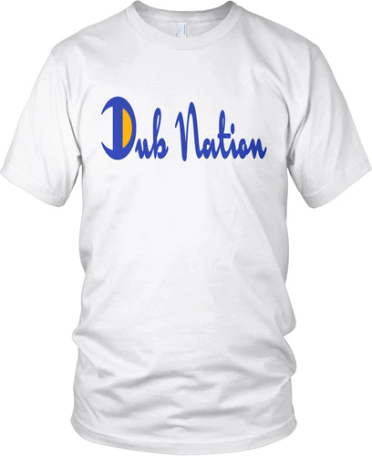 DUB NATION CHAMPION WHITE, BLUE & GOLD T-SHIRT (LIMITED EDITION) GOLDEN STATE WARRIORS EDITION