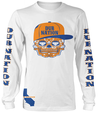 DUB NATION LONG SLEEVE WHITE T-SHIRT (LIMITED EDITION) GOLDEN STATE WARRIORS EDITION