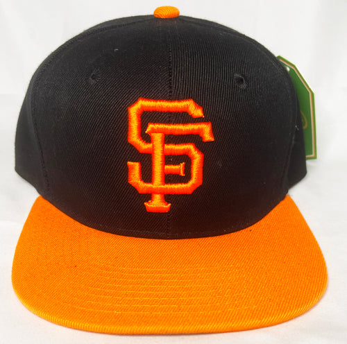 SAN FRANCISCO GIANTS BLACK & ORANGE SNAPBACK BASEBALL HAT