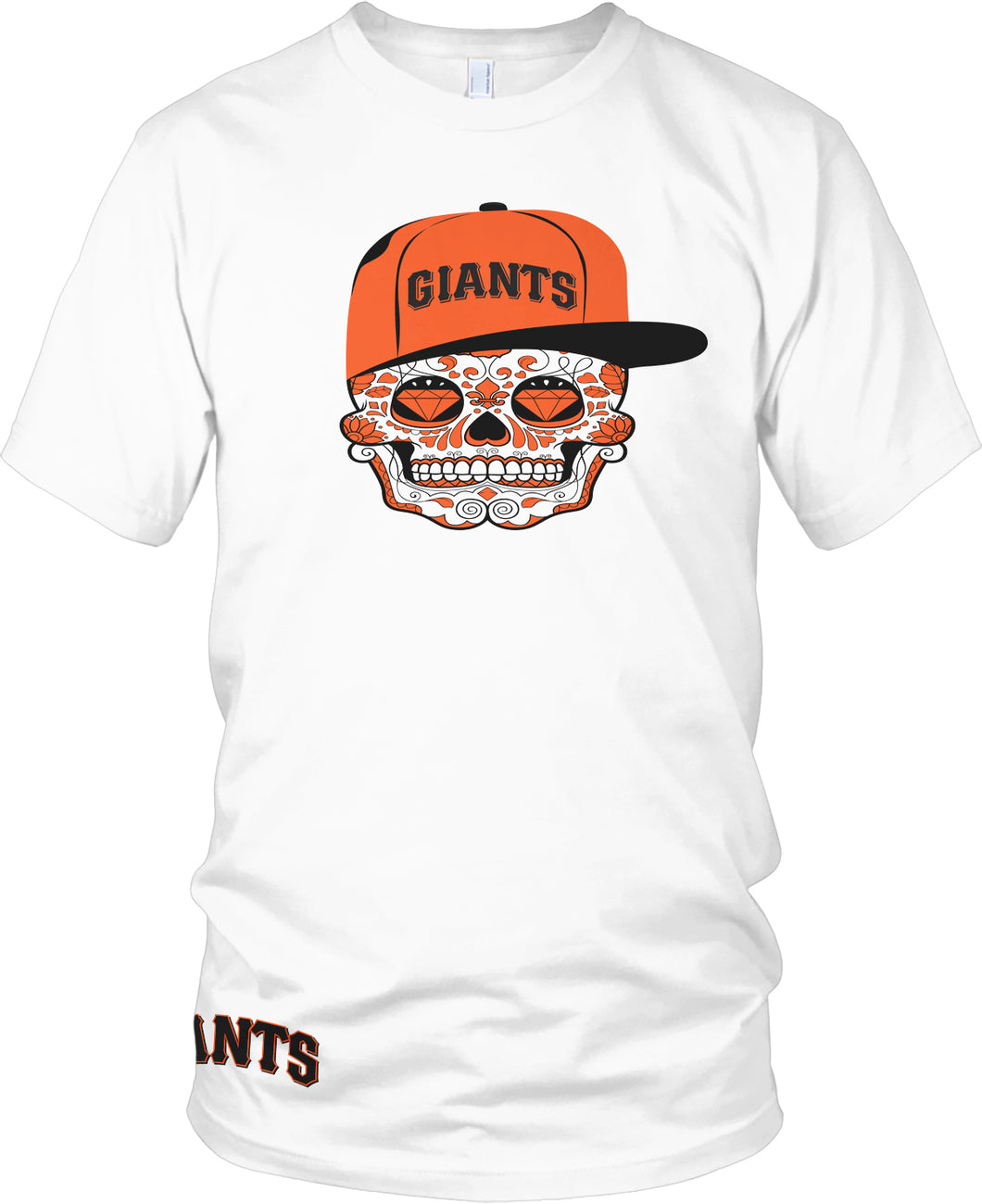 GIANTS CANDY SKULL WHITE T-SHIRT (LIMITED EDITION) SAN FRANCISCO EDITION